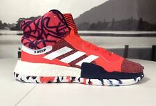 online retailer 46f3d 80070 Adidas Marquee Boost Mens Basketball Shoes Shock Red White Navy G27737 John  Wall