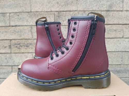 NEW IN THE BOX DR MARTENS 1460 J 15382601 SOFTY T CHERRY RED FOR JUNIOR