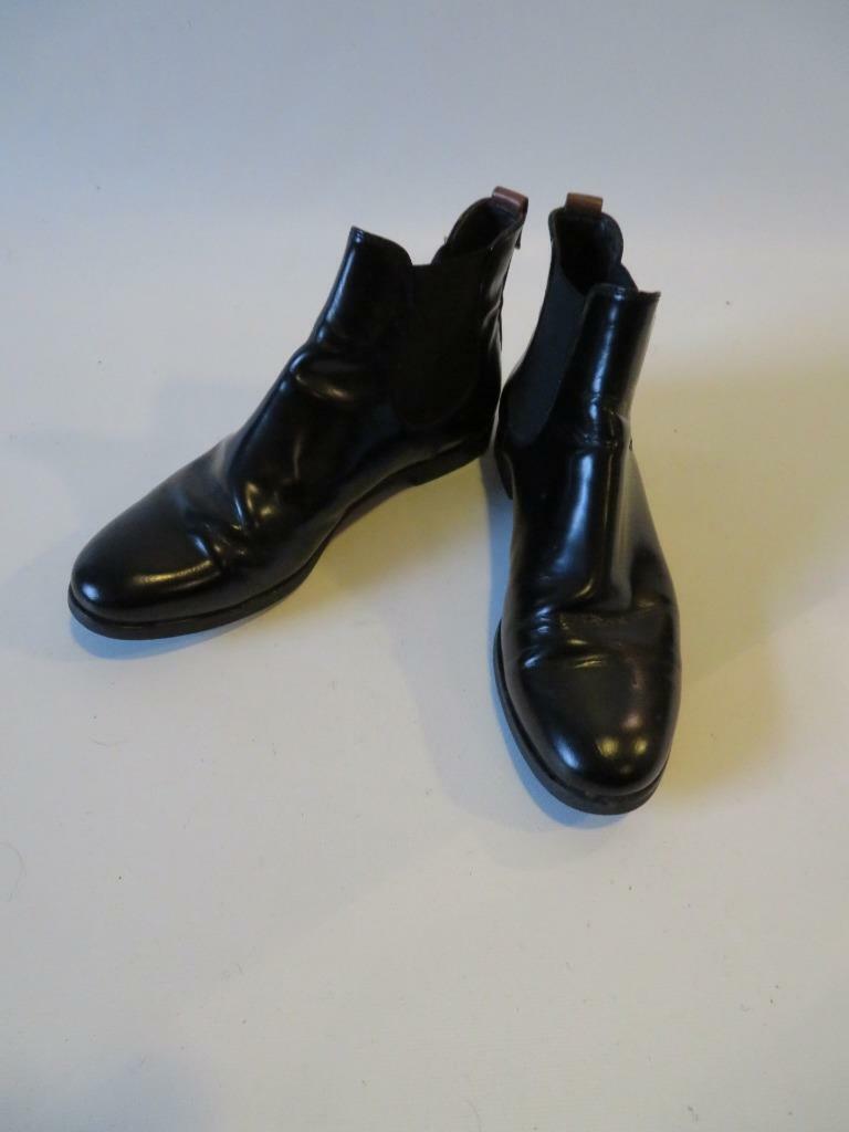 Bottes AGL cuir noir bottines taille 391 2 UR US 9.5