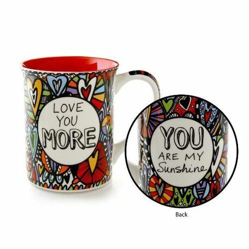 Enesco Our Name is Mud Love You More Cuppa Doodle Mug