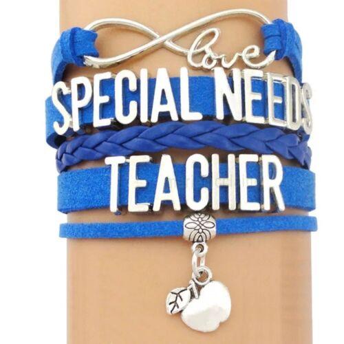 Lovely Friendship Special Needs Teacher Awareness infinity Bracelet.