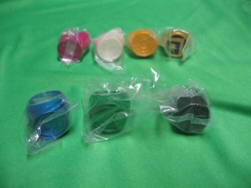 Green Lantern Blackest Night Plastic Ring Set of 7 rings   2B1