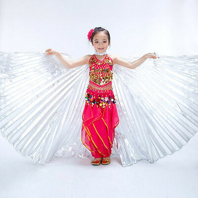 Kids Belly Dance Costume Children's isis Wings 2 Colors  Gold & Silver No Stick