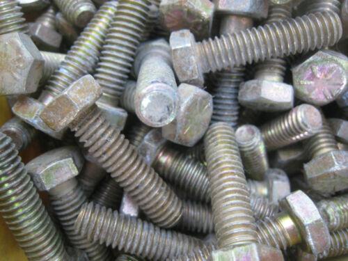 25  Grade 8 Bolts Hex Cap Screws  5//16-18 threads 1-1//4  Inch long  yellow zinc