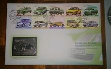 Royal Selangor Premier Pewter Stamp FDC - 2000 Malaysia Made Vehicles Series II