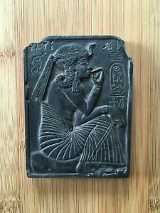Vintage-Egyptian-1970-039-s-Wadjet-Tablet-Black-Soapstone-Collectable-24-99