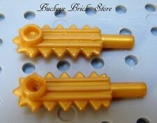 NEW Lego Minifig GOLDEN CHAIN SAW - Peral Gold Weapon Tool 2/Blades