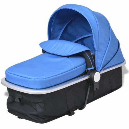 vidaXL Kinderwagen 2-in-1 Blauw en Zwart Aluminium Wandelwagen Kinder Wagen