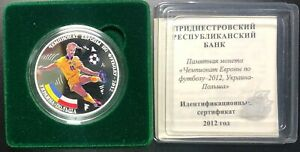 Transnistria Silver Coin 15 Rubles 2012 The European championship on Football