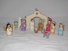 Blossom Bucket 11-piece South American-themed Christmas nativity set