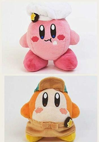 Kirby Cafe Store Limited Kirby /& Waddle Dee Plush Dolls 2pcs Stuffed Toy Rare