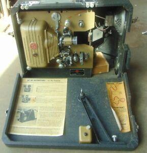 TSI Technical Service Inc 16MM Movie Projector Model D (Suitcase) & DU (Duolite)