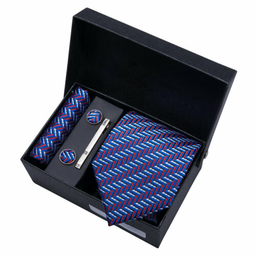 Classic Mens Silk Tie 68 Colors Blue Red Pink Necktie with Box Father/'s Day Gift