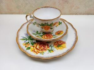 Image is loading Vintage-Royal-Standard-Bone-China-England-Romany-Rose- : bone china cup saucer plate sets - pezcame.com