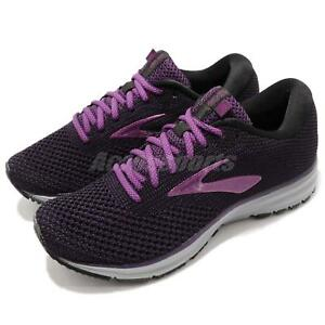 cd71b838a41 Brooks Revel 2 Black Purple Grey Women Running Training Shoes ...