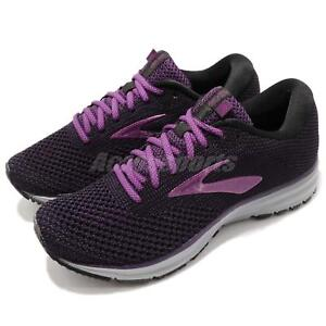22aa291b8c Brooks Revel 2 Black Purple Grey Women Running Training Shoes ...