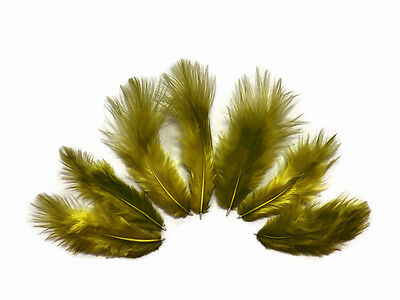 Red Grizzly Rooster Chickabou Fluff Feathers 1 Dozen USA SELLER