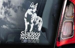 Saarloos-Wolfdog-a-Bordo-Coche-Ventana-Pegatina-Wolfhound-Perro-Signo-V01