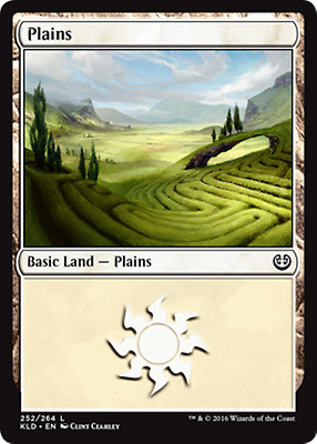 Magic the Gathering FOIL PLAINS x10 mtg mixed basic lands mana