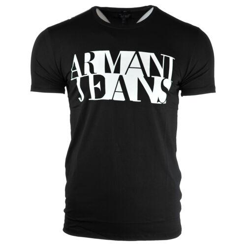 Taille Crew Tee Neck L M Fashion XL Noir XL Armani Jeans Homme S shirt xwYwqAF8