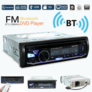 Voiture-Bluetooth-1DIN-Autoradio-Stereo-Car-DVD-Player-MP3-CD-FM-AM-Radio-amp-RDS