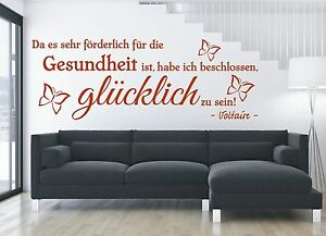 X3300-Wandtattoo-Spruch-Gesundheit-gluecklich-Zitat-Wandsticker-Wandaufkleber