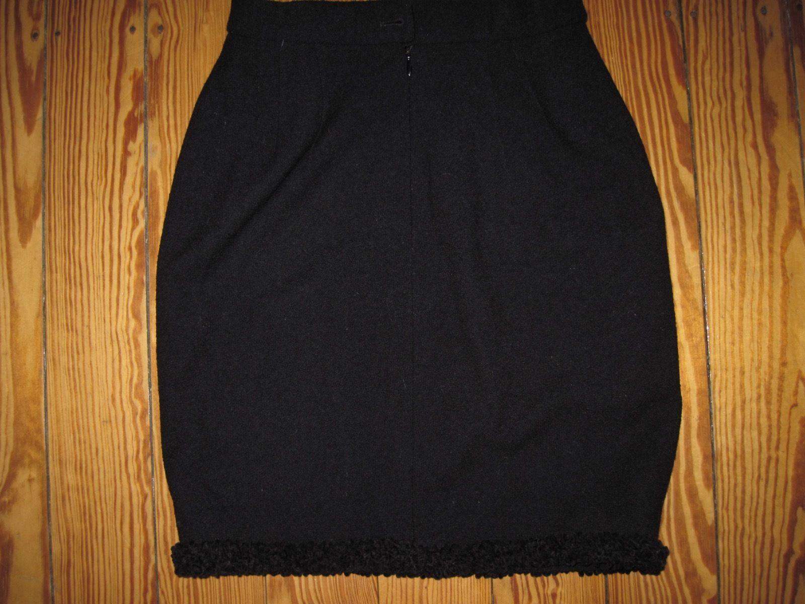 LUSSO Escada BOUCLE Couture Knit A A A MAGLIA GONNA SKIRT PIZZO NERO 34 36 np980, - eebf91