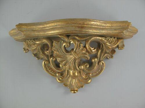 Wandkonsole Ablage Barock Vintage Stil Polystein gold farbig L.34x17cm antik