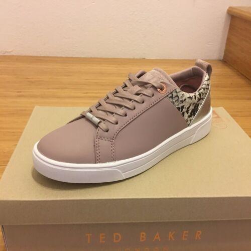 Ted Baker Women/'s Kulei Metallic Trim Sneakers in Mink