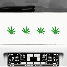 4 Stück 8cm grün Aufkleber Tattoo dope Marihuana Haschisch Cannabis Hanf Blatt