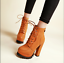 Women-039-s-Lace-Up-Chunky-High-Heel-Ankle-Boots-Platform-PU-Leather-Goth-Punk-Shoes miniature 4