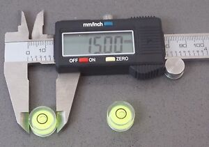 2-Small-Tiny-Spirit-Level-Bulls-Eye-Vial-Round-15-mm-Diameter-Jewellers-Tool