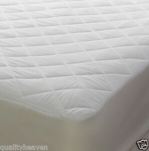 Quilted Bunk Bed Mattress Protector Cover Fitted New Uk Polycotton