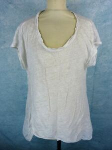 TUNIQUE FEMME EN LIN MANCHES LONGUES MADE IN ITALY BLANCHE
