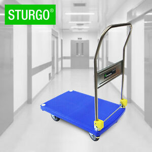 STURGO-Plastic-Platform-Trolley-Folding-Handle-250kg-Adelaide