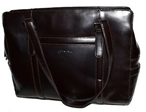 Image Is Loading Franklin Covey 720961 Dark Brown Leather Organizer Laptop