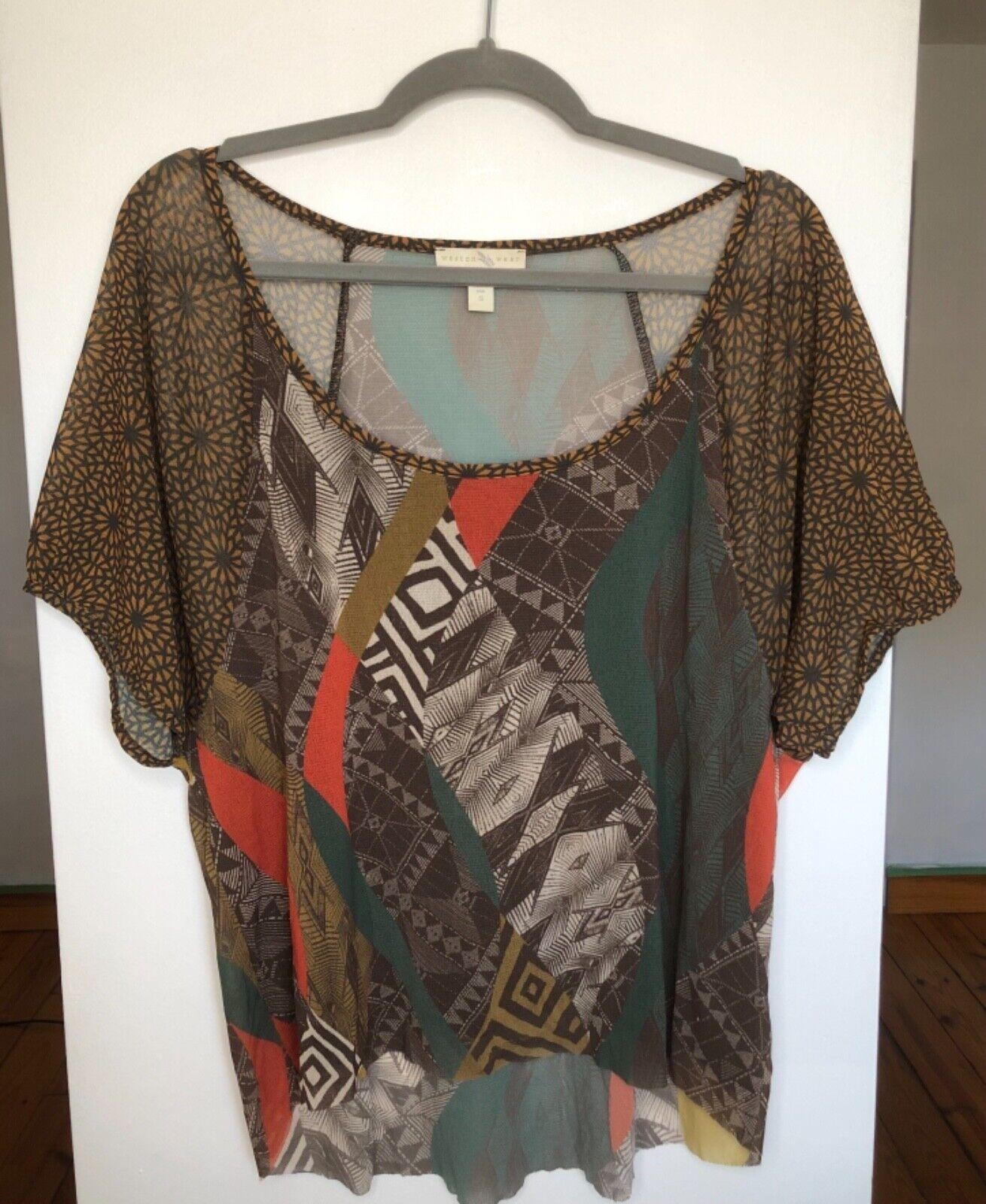 WESTON WEAR Womens Size Small Nylon Shirt Sheer M… - image 3