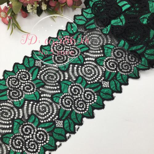 Flower Stretch Lace Trim Ribbon Elastic Lace Sewing Dress Skirt Headband DIY A74