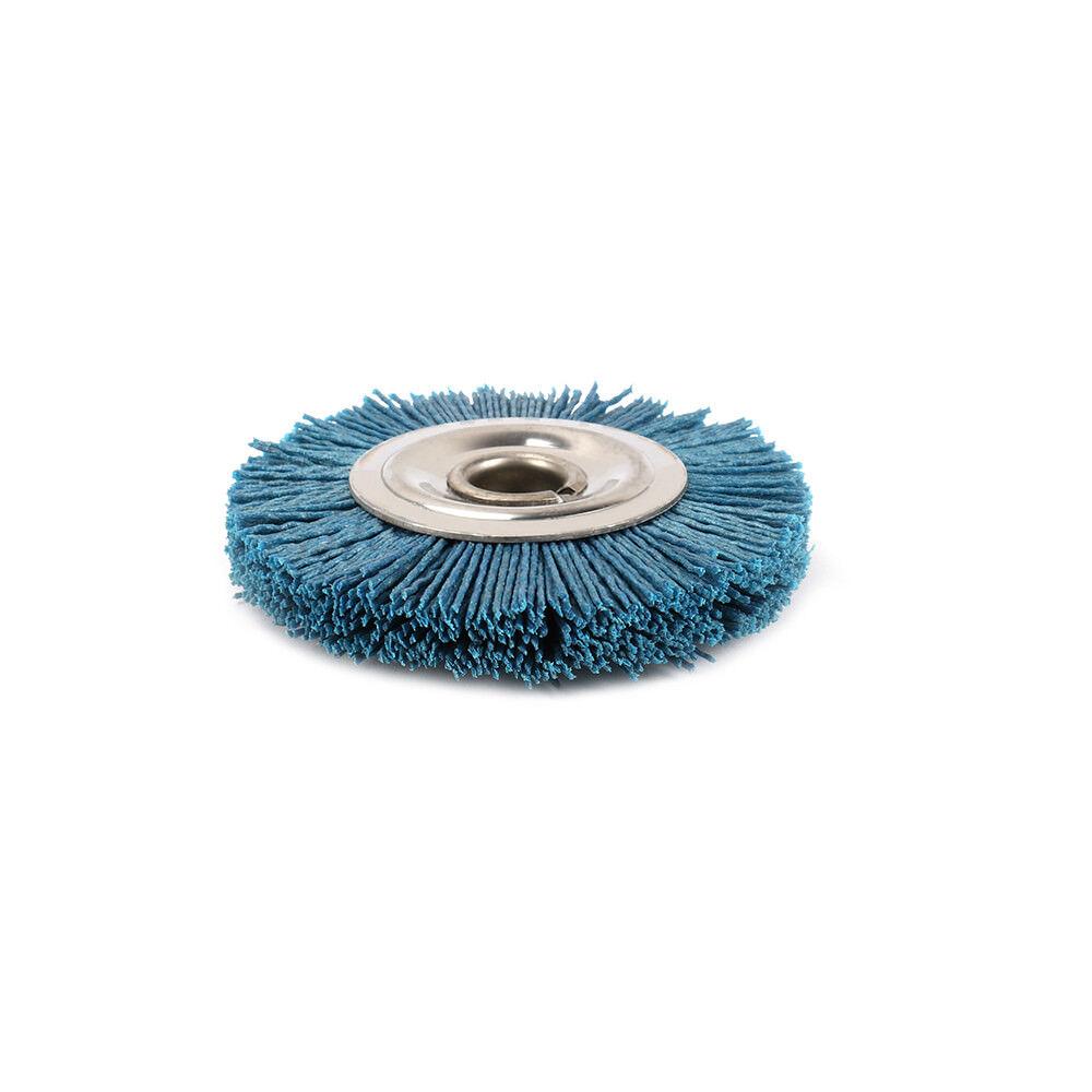 4 Inch Abrasive Nylon Wheel Polish Bench Grinder Hole Diameter 16mm 180 Grit