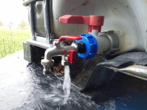 """1//2/"""" Auslaufhahn für Regenwassertank und Wasserkanister #8D WS IBC Adapter"""