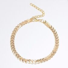 Fashion Boho Gold Arrow Anklets Bracelet Bare Foot Chain Beach Jewelry UK Seller