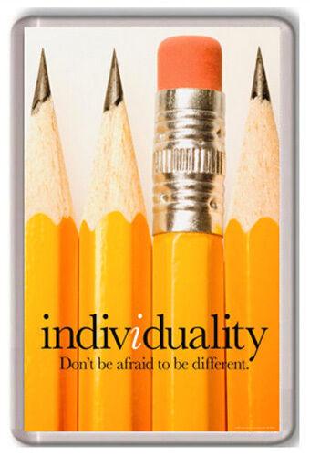 INDIVIDUALITY MOTIVATIONAL FRIDGE MAGNET