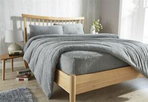 Image Is Loading Teddy Fleece Extra Deep Fitted Sheet Cosy Warm