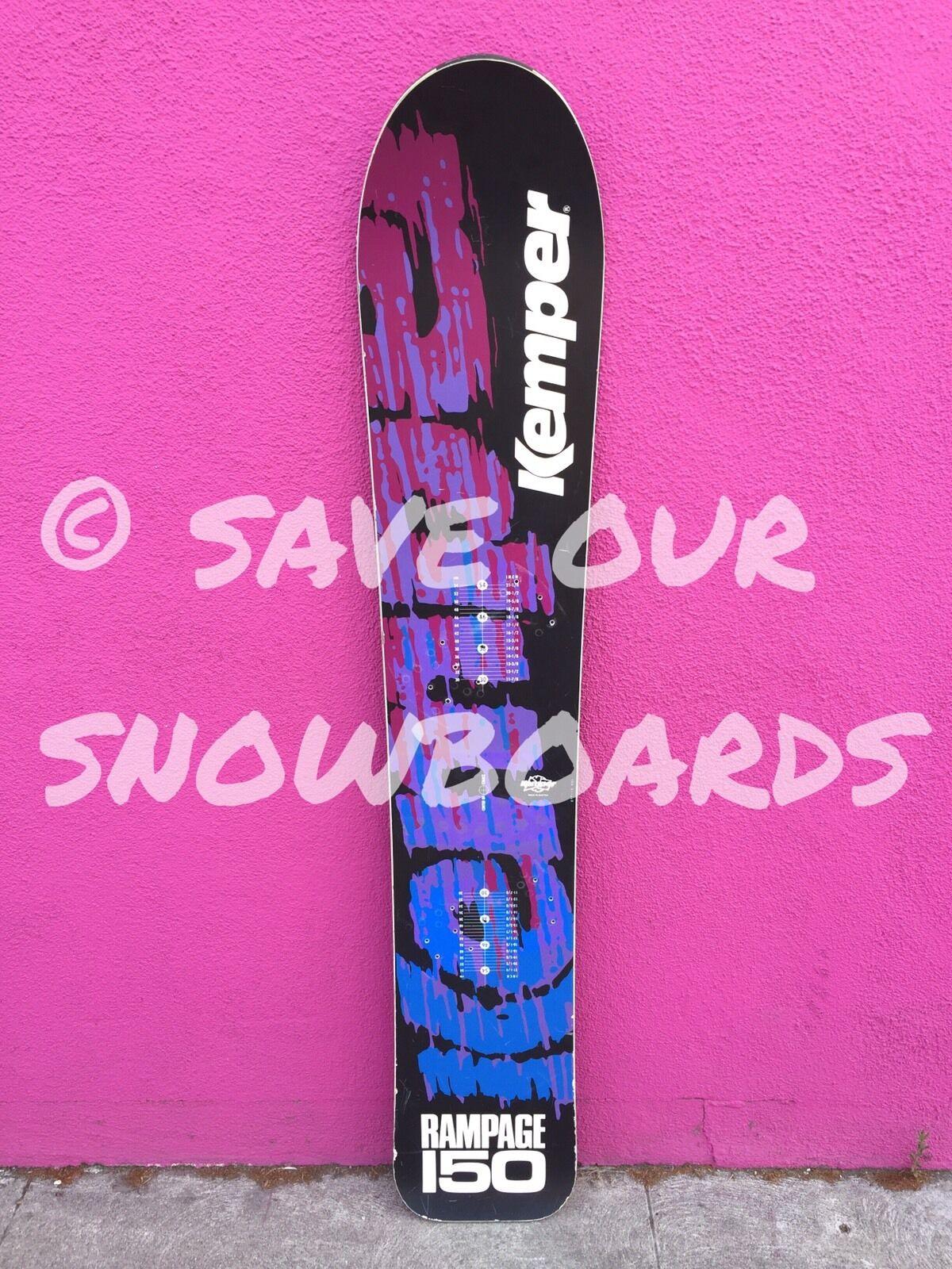 NICE  Vintage 1991 Kemper Rampage  150 Snowboard Austria bluee purple  just buy it