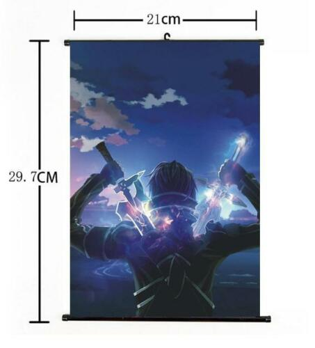 "Hot Japan Anime Sword Art Online Kirito Home Decor Wall Scroll 8/""x12/"" 03"