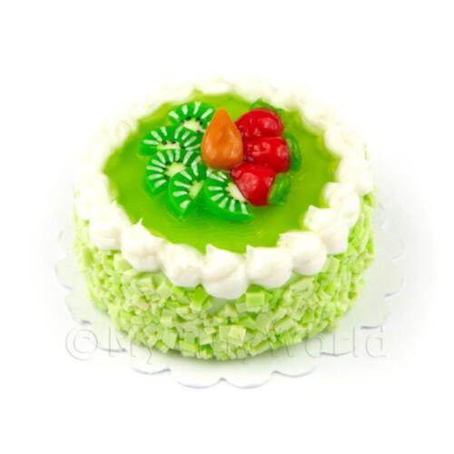 Casa De Muñecas En Miniatura Verde Esmaltado Kiwi Pastel