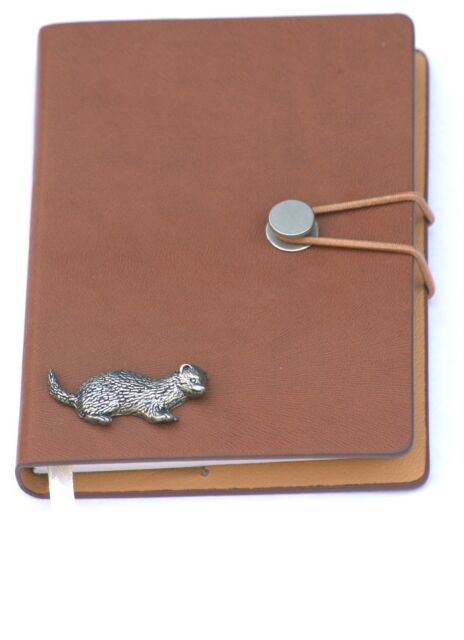 Ferret Pewter Design A6 Notebook Pocket Size Notepad Ideal Hunting Gift