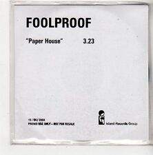 (FV345) Foolproof, Paper House - 2004 DJ CD