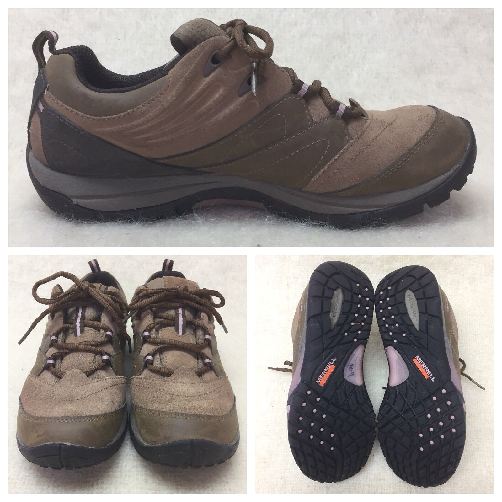 Merrell Select Grip  Hiking Lace Up Sneaker Otter Marron Leather Femme