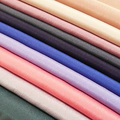 Silky Lightweight Crepe Fabric, summer top weight - Soft & Drapey, Plain Colours